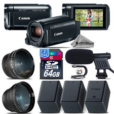 Canon VIXIA HF R800 + Telephoto & Wide Angle Lens + Shotgun Mic - 128GB Bundle
