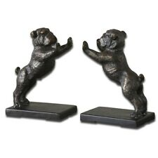 Uttermost Bulldogs Cast Iron Bookends, Set of 2 - 19643