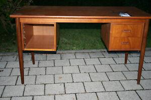 Mid Century Schreibtisch Teak Vintage Desk Danish Design wohl Vamo 70er