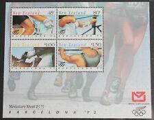 New  Zealand – 1992 Barcelona Olympics – Minisheet – UM (MNH) (R7)