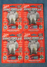 RHINO FORCE 69 Super Long Lasting Platinum 200K Male Enhancement 4 Pills