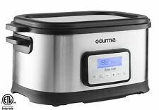 Gourmia GSV550 Stainless Steel Sous Vide 9 Qt. Water Oven Cooker, Digital Timer
