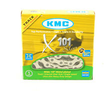 """KMC X101 Silver 1/2"""" x 1/8"""" 112L Track Fixed Gear BMX Single-Speed Bicycle Chain"""