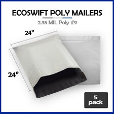 5 24x24 Ecoswift Poly Mailers Large Plastic Envelopes Shipping Bags 235mil