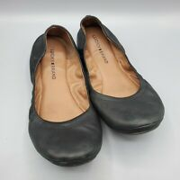 Lucky Brand Women's Ballet Flats 9.5 Black Leather Shoes