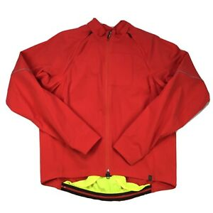 Specialized Element 2.0 Hybrid Convertible Jacket  XL Red Yellow Nylon Spandex