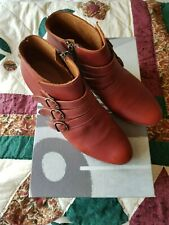 Fiorentini + Baker terracotta leather ankle boots size 39 IT/ 6 UK