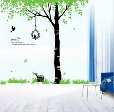 Huge Birds Sing Tree Wall Stickers Mural Art Vinyl Decals Removable Home Decor
