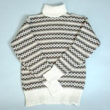 Vintage Icelandic Nordic Knitted Sweater Jumper Unisex Men's Small Chest 36 38
