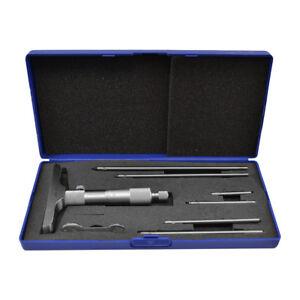 "0-6"" Depth Gauge 4"" BASE Toolmaker Milling GRAD .001"" Machinist Depth Micrometer"