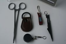Fly Fishing Kit: incl: box, nippers, forceps, zinger, knot tool and ldr str8ner