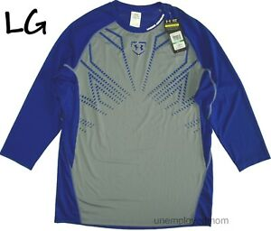 Under Armour Fitted Tee Shirt Sports Men's Baseball Athletic Long Sleeve Top
