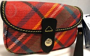 NWT~Dooney & Bourke*Tartan Plaid* RED*Flap Wristlet 18219i S167a