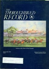 1983 Thoroughbred Record Magazine: Action on the Turf at Fair Grounds/Hollywood