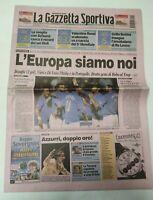 GAZZETTA DELLO SPORT 12 OTTOBRE 2003 QUAL. EUROPEI ITALIA-AZERBAIGIAN 4-0