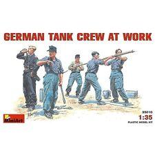 Alemán Tank Crew en el trabajo 1:35 Miniart Plástico Modelo Miniatura Soldado Estatuillas
