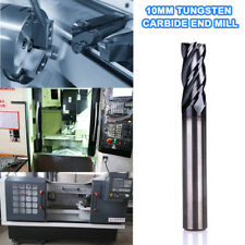 C65C 10MM Tungsten Carbide End Mill 4 Flute Shank Drill HRC50 75MM Length