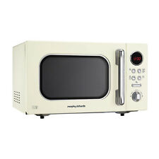 Morphy Richards 511511 Accents 23L Solo Microwave Oven Cream 800W 8 Programmes