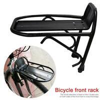 Aluminum Alloy Bike Bicycle Front Rack Luggage Shelf Carrier Panniers Bracket hs