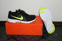 Nike Flex Damen Running Schuhe Schwarz Gelb Größe 38, US 5,5Y, UK 5 Neu