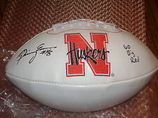 Quincy Enunwa Nebraska Cornhuskers Signed Logo Football Ncaa