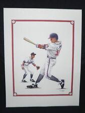 Chipper Jones Atlanta Braves Baseball Lithograph