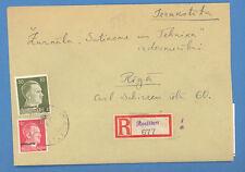 1943 GERMANY LATVIA ENVELOPE REGISTERED ROSITTEN TO RIGA B3367