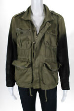Current/Elliott Army Green Cotton Ombre Lone Soldier Jacket Size 2
