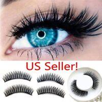 Triple Magnetic 3D Eyelashes Handmade Reusable False Magnet Full Eye Lashes US