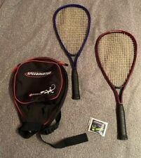 Lot of 2 Speedminton Aluminum Badminton Racquets With Case