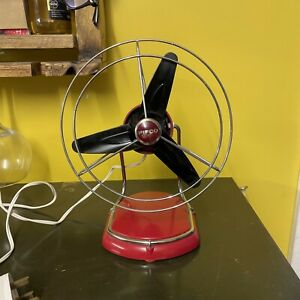 Red Pifco Space Age Desk Fan No. 1063 Retro Mid Century Vintage Working
