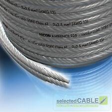 HICON Ambience 2x 2,5mm² versilbertes OFC Lautsprecherkabel 6m Reststück HIA-225