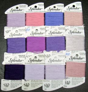 12xNeedlepoint/Embroidery THREAD RAINBOW GALLERY Splendor 12ply silk-purpls-XW12