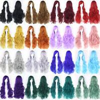 "Women's Long Wavy Curly Wig Anime Party Cosplay Wigs Multicolor Headwear 32"""