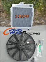 3 core aluminum radiator + fan for DATSUN 1200 manual