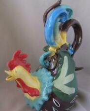 Blue Sky Clayworks Earl Bass Rooster Chorus Ceramic Tea Pot Heather Goldminc
