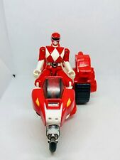 MMPR 1993 Power Rangers Red Tyrannosaurus Battle Bike Motorcycle with Sidecar
