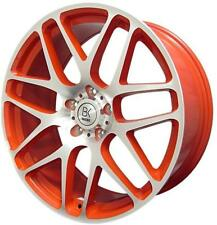 "BK170 8x18"" 4 Alloy Wheels & Tyres Red 5x120 T6 T5 Transporter Weight Rated"