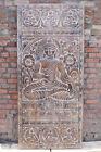 Buddha Wall Hangings Budha Bhumisparsha Mudra Wall Art Vintage Hand Carved Door
