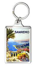 SANREMO ITALY VINTAGE REPRO KEYRING SOUVENIR LLAVERO