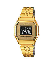 Casio LA680WGA-9B Ladies Mid-Size Gold Tone Digital Retro Watch