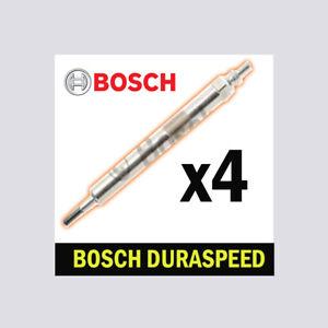 Glow Plugs 4x FOR BMW F10 10->16 518d 520d 525d 2.0 Saloon Bosch
