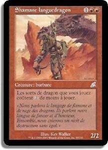 Shamane Languedragon JAPONAIS - JAPANESE Dragonspeaker Shaman - Fléau- Magic Mtg