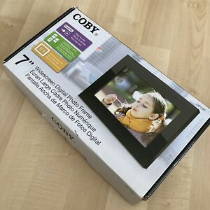 "Coby DP700 BLK 7"" Digital Photo Frame New Open Box"