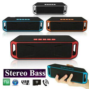 Bluetooth Speaker Wireless Outdoor Stereo Waterproof USB/TF/AUX FM Portable