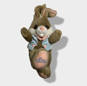 """Rare Vintage 1990 Applause Peter Cottontail Easter Bunny Rabbit 8"""" Plush Toy"""