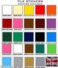 "6"" Tile Sticker Decal Transfer Home Kitchen Bathroom 24 Colours DIY Qaility Item"