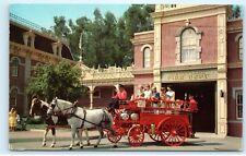 Disneyland Fire Department Chemical Wagon Main Street Station 1950s Postcard A44