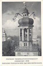 Darmstadt, Deutsche Freiballonmeisterschaft 1935, Amtl. Festpostkarte