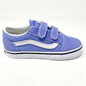 Vans Old Skool V Pale Iris Violet True White Baby Toddler Shoes